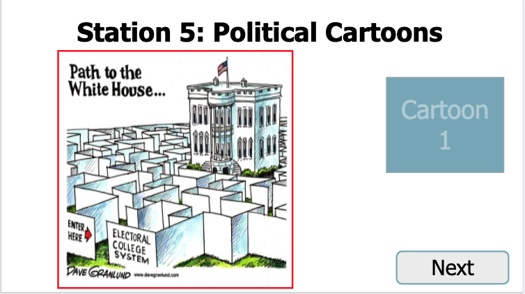 Electoral college political cartoon