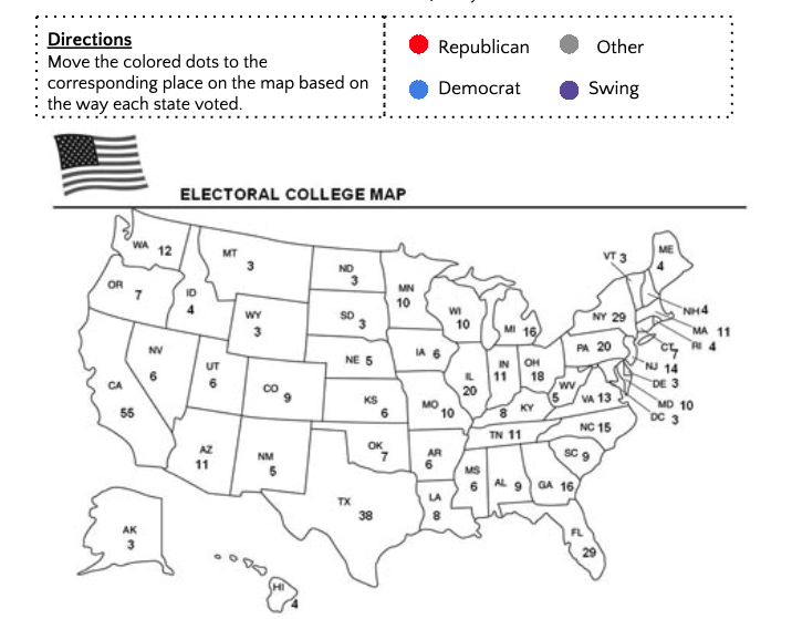 map of the Electoral college